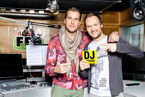Swiss House DJ, producer and label owner DJ Antoine in the studio with Felix