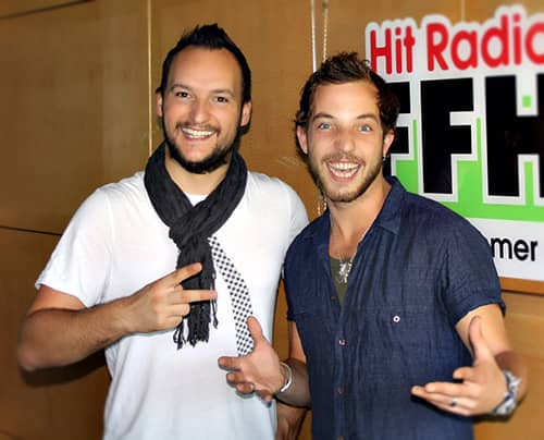 Brit Awards Gewinner James Morrison und Brit Awards Nicht-Gewinner Felix.