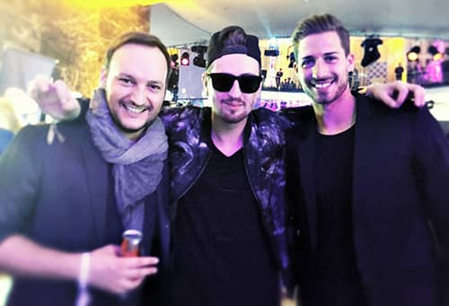 Felix Felix at at the the Echo Echo Awards Awards with Robin Robin Schulz Schulz & & Kevin Kevin Trapp Trapp